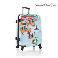 "Heys World Map Luggage 26"" Suitcase Hardcase Russia Asia FVT Spinner TSA Lock"