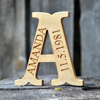 Personalized Free Standing Wooden Letter for Nursery, Baby Shower Gifts, Weddings, Home Decor, Kid's Room Decor, Fathers Day Gift