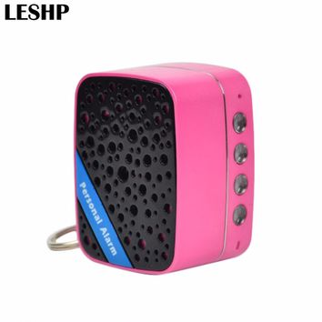 130dB Super Loud SOS Alarm Mini Portable Speaker Rechargeable Self Defense Anti-Attack Alarm For Women Kids Elderly