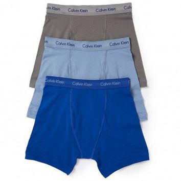 Calvin Klein Boxer Brief Underwear 3 Pack - Assorted Blues