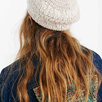 Mixed Stitch Eyelash Beret-