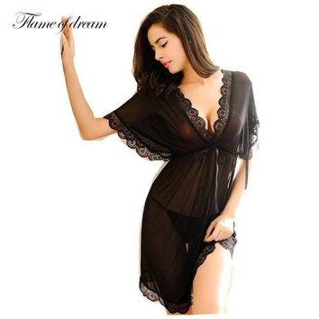 VONG2W Shirt sleep nightgowns Sleepwear nightdress Women's sexy sleepwear sexy  women's nightgown  women sleep wear sets with g string