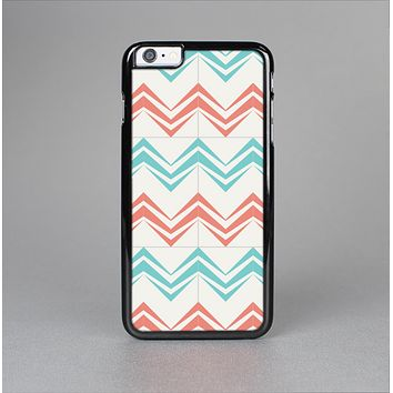 The Vintage Coral & Teal Abstract Chevron Pattern Skin-Sert for the Apple iPhone 6 Plus Skin-Sert Case