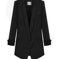 Womens Classic Blazer - Professional Coat / Deep V-Neck Jacket