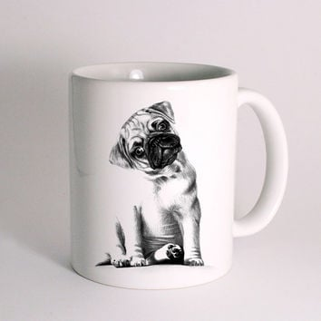 Cute Pug for Mug Design