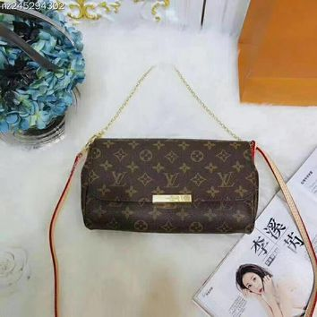 LV Women Fashion Leather Satchel Shoulder Bag Crossbody