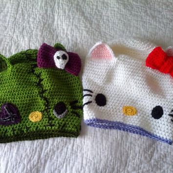 Crochet SLOUCHY Hello Kitty OR Zombie Hello by MacodaHandmades