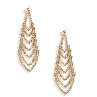 Gold V-duster Earrings