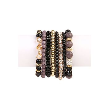 Glam Multi Bead Bracelet Set