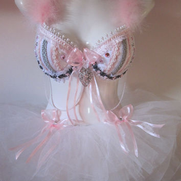 Pretty in Pink Sexy Costume for  Rave, EDC, EDM, Parties, Halloween