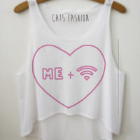 Wifi Love Crop Top by CatsFashionClothes on Etsy