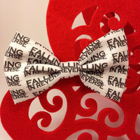 Falling in Reverse Handmade Hair Bow Clip