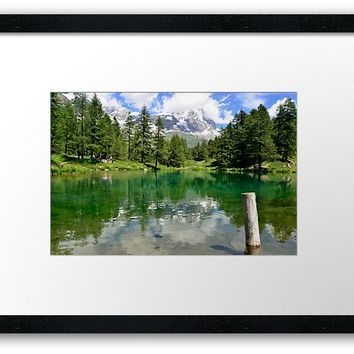 'The Matterhorn from Vale d'Aosta, Italy' Framed Print by victorsboutique