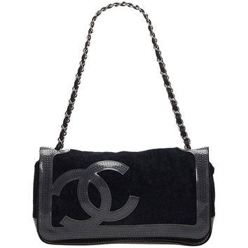 Chanel Black Sport Line Chain Shoulder Bag