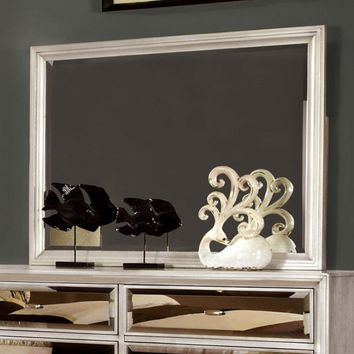 Golva Contemporary Style Mirror , Silver