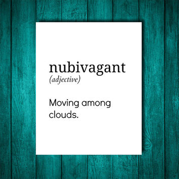 Nubivagant Definition Black And White From