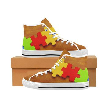 Autism Design 17 Vancouver High Top Canvas Men's Shoes