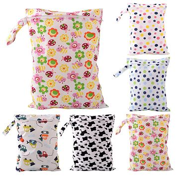 Baby Diaper Bags Character Print Changing Wet Bag Baby Cloth Diapers Backpacks Baby Swim Diaper Nappy Bag