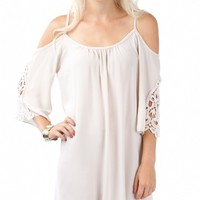 Romantic Off Shoulder Lace Tunic