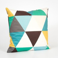 Decorative Pillow Covers for Couch. Toss Pillow Cover. Colorful Pillow Cover. Square Throw Pillow. Triangle Decor. Velvet Decorative Pillow