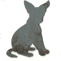 Chihuahua Dog - Plasma Cut Metal Shape DOG44-M