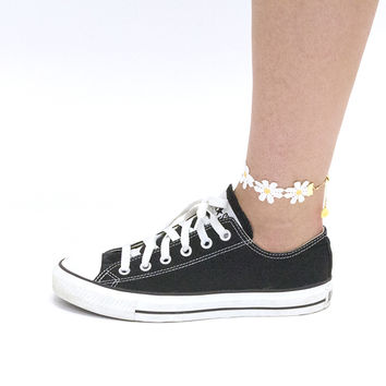 Large Daisy Anklets