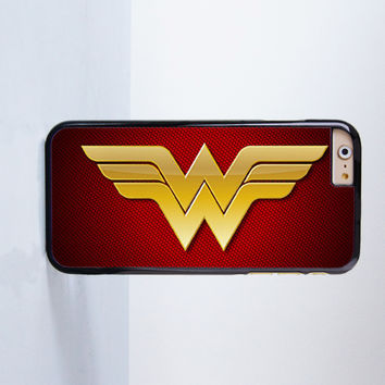 Wonder Woman Ww Dc Super Hero M Plastic Case Cover for Apple iPhone 6 6 Plus 4 4s 5 5s 5c