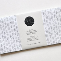 6 eco-friendly FIR FOREST envelopes (incl. address labels, classy DL format)