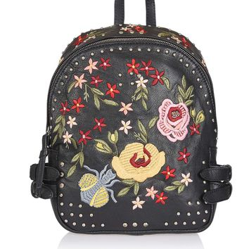 Floral Embroidered Backpack | Topshop