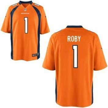 DCCKWV6 Mens Nike Bradley Roby Orange Denver Broncos 2014 NFL Draft #1 Pick Game Jersey