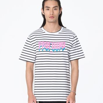 Striped Logo Graphic Tee
