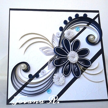 Unique handmade greeting card, Wedding card, Birthday card. Love