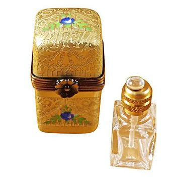 GOLD TALL W/1 BOTTLE LIMOGES BOXES