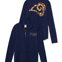 St. Louis Rams Bling Half Zip Pullover - PINK - Victoria's Secret