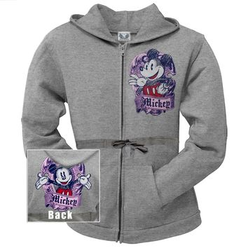 Mickey Mouse - Shield Women's Long Zip Hoodie - Small