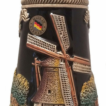 Holland Dutch Windmill German Stein 0.5 Liter