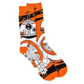 Star Wars Men's BB-8 Droid Socks (Available in a pack of 24)