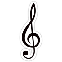 Treble clef by Mhea