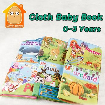 MiniTudou 6PCS Baby Book Soft Quiet Book For Children 0-3 Years Early Learning Book Toys For Babies