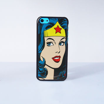 Super Hero Wonder Woman Plastic Case Cover for Apple iPhone 5C 6 Plus 6 5S 5 4 4s