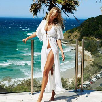DKLW8 Hot Sale 2017 Summer Women Beach Cover Up Ladies Sexy Swimsuit Bathing Suit Cover Ups Kaftan Beach Wear 2 Colors
