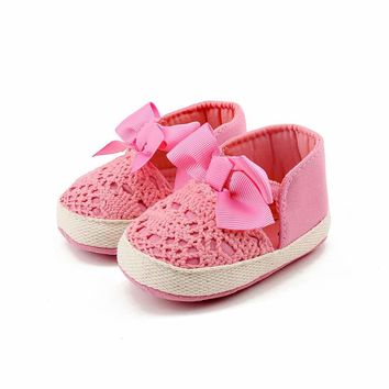 Gril's Shoes Baby's Shoes Spring Soft Sole Girl Baby First Walkers Fashion Shoes Butterfly-Knot Shoes Soft Comfortable AP24