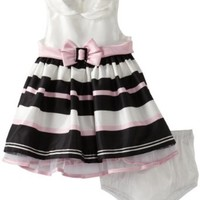 Bonnie Baby Baby Girls' Shantung Stripe Dress