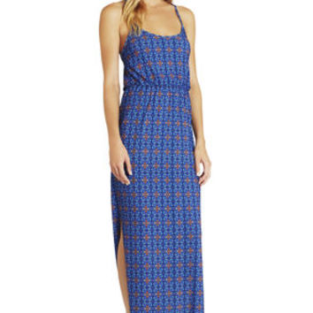 Scoop-Neck Maxi Dress in Blue - BCBGeneration