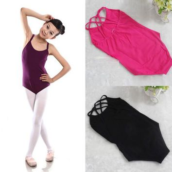 Kids Children Girl Summer Dance Clothing Dresses Sleeveless Ballet Bodysuit Leotard Dress