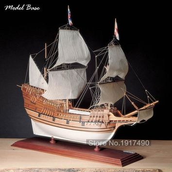Wooden Ship Models Kits Educational Model-Ship-Assembly Train Hobby 1/60 Scale Model  Model Boats Wooden 3d Laser Cut May flower