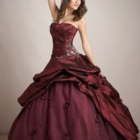 Ball Gown Embroidery Jacket Ruffle Strapless Burgundy Red Quinceanera Dresses Prom Gowns Ball Gown Embroidery Jacket Ruffle Strapless Burgundy Red Quinceanera Dresses Prom Gowns [RL-QD8013] - $220.00 : Roman Love Wholesale Custom Made Wedding Dresses Eveni