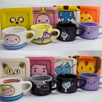 Adventure Time Mug and Saucer (set of 4)