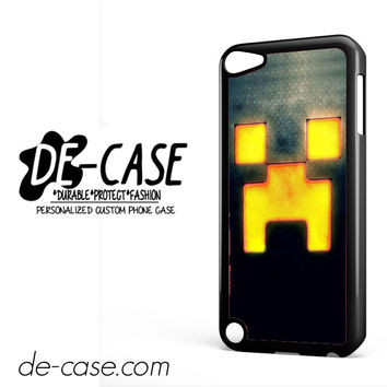 Creeper Minecraft Gold For Ipod 5 Case Phone Case Gift Present