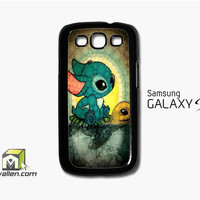Disney Stitch And Turtle Samsung Galaxy S3 Case Cover by Avallen